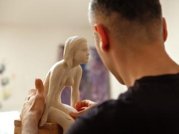 stage de sculpture avec modèle vivant